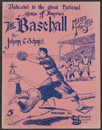 The baseball march [Sheet music]