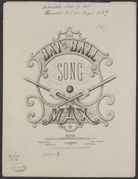 The bat and the ball [sheet music]