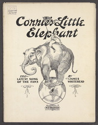 Connie's little elephant [sheet music]