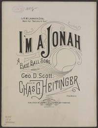 I'm a Jonah [sheet music]