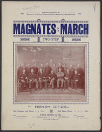 Magnate's march [sheet music]