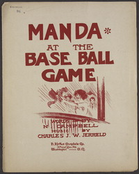 Manda at the base ball game [sheet music]
