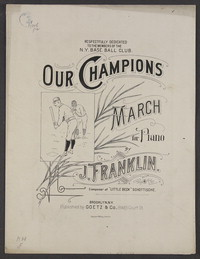 Our champion's march [sheet music]