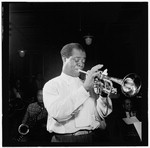 [Portrait of Louis Armstrong, Carnegie Hall, New York, N.Y., ca. Apr. 1947] [graphic]