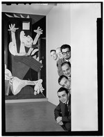 [Portrait of Ralph Burns, Edwin A. Finckel, George Handy, Neal Hefti, Johnny Richards, and Eddie Sauter, Museum of Modern Art, New York, N.Y., ca. Mar. 1947] [graphic]