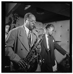 [Portrait of Coleman Hawkins and Miles Davis, Three Deuces, New York, N.Y., ca. July 1947] [graphic]