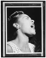 [Portrait of Billie Holiday, Downbeat, New York, N.Y., ca. Feb. 1947]