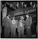 [Portrait of Thelonious Monk, Howard McGhee, Roy Eldridge, and Teddy Hill, Minton's Playhouse, New York, N.Y., ca. Sept. 1947] [graphic]