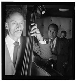 [Portrait of Charlie Parker, Tommy Potter, and Max Roach, Three Deuces, New York, N.Y., ca. Aug. 1947] [graphic]