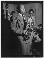 [Portrait of Charlie Parker, Tommy Potter, Miles Davis, and Max Roach, Three Deuces, New York, N.Y., ca. Aug. 1947] [graphic]