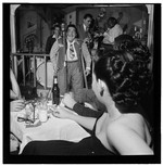 [Portrait of Uffe Bode, Doc Pomus, Sol (Solomon) Yaged, John (O.) Levy, and Rex William Stewart, Pied Piper, New York, N.Y., ca. Sept. 1947]