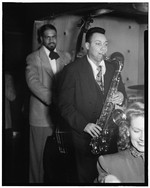 [Portrait of Lucky Thompson, Hilda A. Taylor, and Al McKibbon, Three Deuces, New York, N.Y., ca. July 1948] [graphic]
