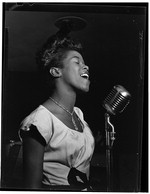 [Portrait of Sarah Vaughan, Caf Society (Downtown)(?), New York, N.Y., ca. Aug. 1946] [graphic]