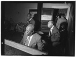 [Portrait of James P. (James Price) Johnson, Fess Williams, Freddie Moore, and Joe Thomas, William P. Gottlieb's office party, Jamaica, Queens, New York, N.Y., ca. 1948] [graphic]