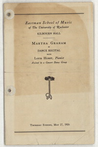[Martha Graham, Kilbourn Hall, May 27, 1926] [concert program]