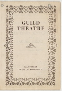 [Martha Graham, Guild Theatre, November 20, 1932] [concert program]