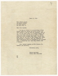 [Letter from Harold Spivacke to Helene Lepska, March 8, 1945] [correspondence]