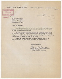 [Letter from Donald Duncan to Martha Graham, April 28, 1945] [correspondence]