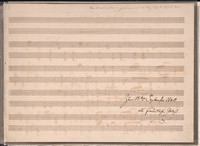 Thema mit Variationen [manuscript score]