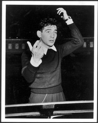 Bernstein conducting the New York City Symphony, 1945. Courtesy of Amberson Enterprises, Inc. (Music Division) [Photographs]