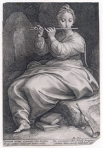"""Euterpen calami, et genialis Tibia honestat ..."" (""Euterpe the genial reeds and flute honor …"") [artwork]"