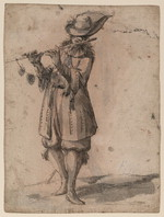 [Soldier playing flute, recto; fisherman, verso] [artwork]