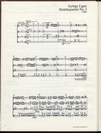 Steichquartett no. 2 [musical score]