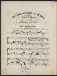 Columbia the land of the brave [sheet music]