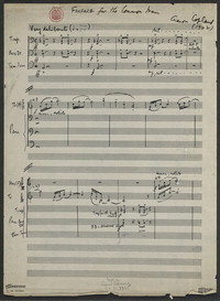 Fanfare for the common man [manuscript score]