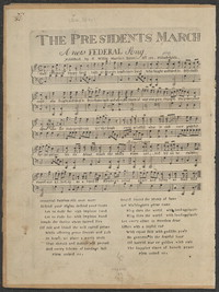 The presidents march: a new federal song [sheet music]
