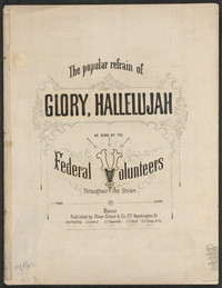 The popular refrain of Glory, hallelujah [sheet music]