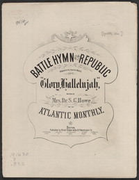 Battle hymn of the republic [sheet music]