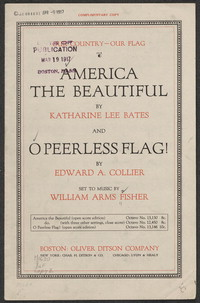 America the beautiful [sheet music]