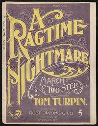 The Ragtime Nightmare [sheet music]
