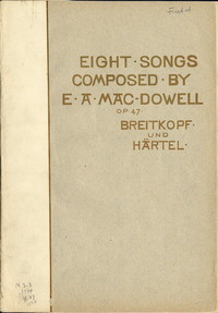 Eight songs, op. 47 [sheet music]