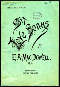 Six Love Songs, op. 40 [sheet music]