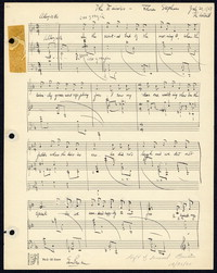 The daisies: from Three Songs, op.2, 1927. [manuscript]