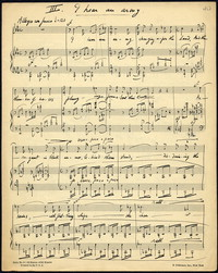 I hear an army: from Three Songs, op. 10, 1936. [manuscript]