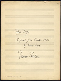 Rain has fallen: from Three Songs, op. 10, 1936. [manuscript]