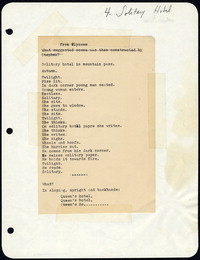 Solitary hotel: from Despite and Still, op.41, 1968-69. [manuscript]