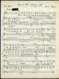 Sure on this shining night: from Four Songs, op. 13, 1938. [manuscript]