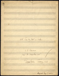 With rue my heart is laden: from Three Songs, op.2, 1928.. [manuscript]