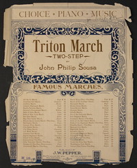 Triton March [two-step] [sheet music]