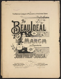 The Beau Ideal [sheet music]