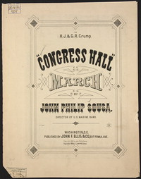 Congress Hall [sheet music]