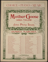 Mother Goose [sheet music]