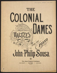 Colonial Dames Waltzes [sheet music]