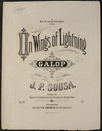 On Wings of Lightning [sheet music]