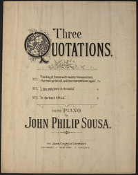 Three Quotations: No. 2. I, too, was born in Arcadia. [sheet music]