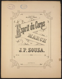 Espirit du Corps [sheet music]